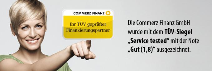 Commerz Finanz - jetzt TÜV-zertifiziert.