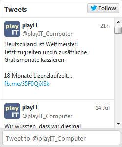 playit.de bei Twitter