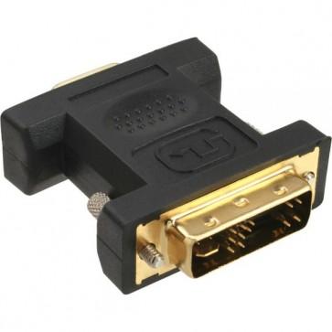 InLine DVI-A Adapter, Analog 12+5 Stecker auf 15pol HD Buchse (VGA), vergoldet