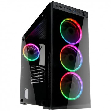 Kolink Horizon Midi Tower RGB, Lüfter LED, mit Glasfenster