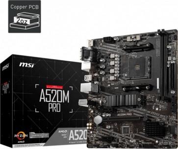 MSI A520M Pro (Max. 2x RAM)
