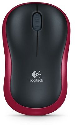 Kabellose Logitech Maus, Farbe Rot, USB