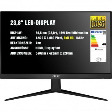 MSI Optix G241 23,8 Zoll Monitor 144Hz