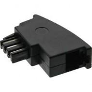 InLine TAE-F Adapter, TAE-F Stecker auf RJ11 Buchse, für Import Telefone