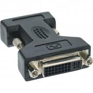 InLine DVI-A Adapter, Analog 24+5 Buchse auf 15pol HD Stecker (VGA)