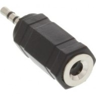 InLine Audio Adapter, 2,5mm Klinke Stecker an 3,5mm Buchse