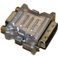 Adapter DVI Stecker 24+5pin > VGA Buchse 15pol
