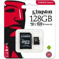 128 GB Kit micro SDHC UHS-I, Kingston class10 CANVAS Select