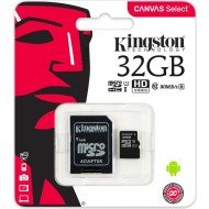 32 GB Kit micro SDHC UHS-I, Kingston class10 CANVAS Select