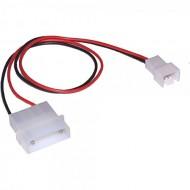 InLine Lüfter Adapterkabel, 12V Molexstecker > 7V Mainboardstecker 3pol, 0,3m