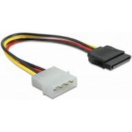 SATA Kabel 0.5m Molex St. > SATA 15pol.